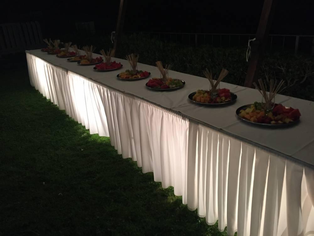Scorcio tavoli buffet